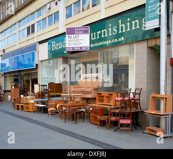 Used Second Hand Furniture On Sale On A Uk High Street Stock Photo Royalty Free Image 67955803