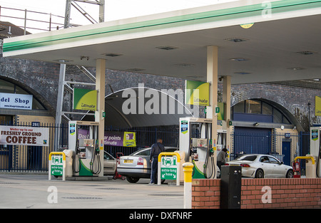 BP petrol station in London - Stock Photo