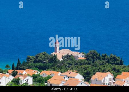 Dominican monastery, Bol, island of Brač, Dalmatia, Croatia - Stock Photo