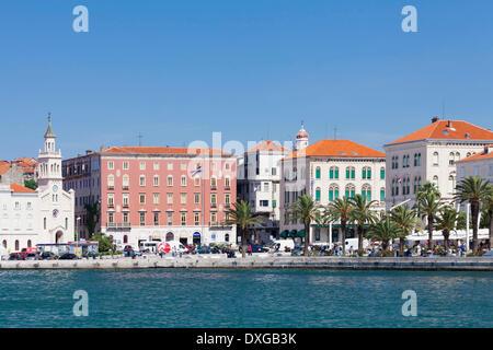 Harbor and promenade of Split, Dalmatia, Croatia