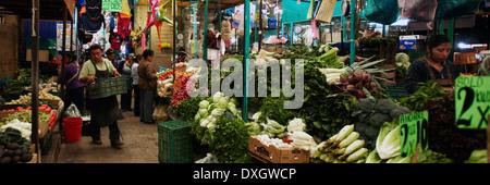 América, Mexico, Puebla state, Cholula village, the historical center, the market - Stock Photo