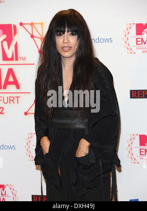 Loreen The MTV EMA's 2012 held at Festhalle - press room Featuring: Loreen Where: Frankfurt, Germany When: 11 Nov - Stock Photo