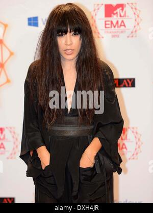 Loreen The MTV EMA's 2012 held at Festhalle - Arrivals Featuring: Loreen Where: Frankfurt, Germany - Stock Photo