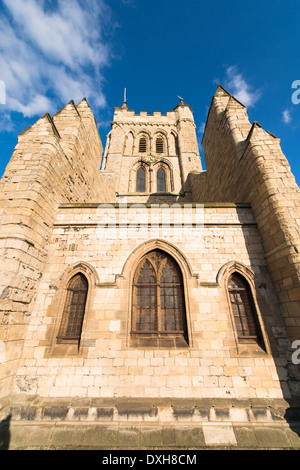 An unusual view of St Hilda's Church on the Headland of Hartlepool, UK. - Stock Photo