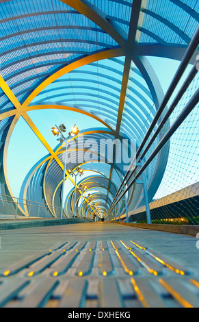 Arganzuela Bridge by Dominique Perrault. Madrid, Spain. - Stock Photo