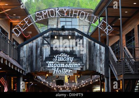 Smokey Holler Gatlinburg, Tennessee - Stock Photo
