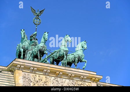 Quadriga on Brandenburg Gate, Berlin, Germany / Brandenburger Tor - Stock Photo