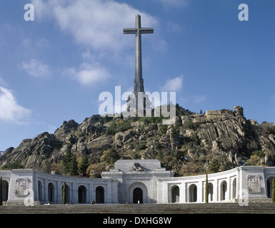 Spain. Madrid. Valley of the Fallen (Valle de los Caidos) By Pedro Muguruza (1893-1952) and Diego Mendez (1906-1987). - Stock Photo