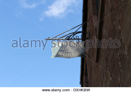 Sign at Verdant Works Jute Mill Museum Dundee Scotland  March 2014 - Stock Photo