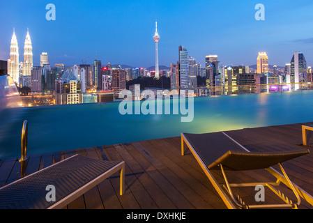 Asia Malaysia Kuala Lumpur Swimming Pool In The Petronas Towers Stock Photo Royalty Free
