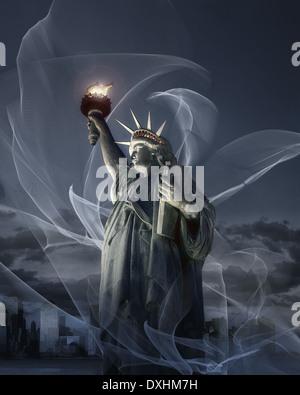 USA - NEW YORK: Statue of Liberty (Digital Art) - Stock Photo