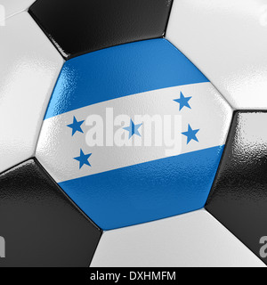 Soccer ball with the Honduran flag on it - Stock Photo