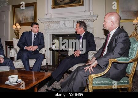 London, UK. 26th March 2014. Leader of the Ukrainian Democratic Alliance for Reform party (UDAR) Vitaly Klitschko - Stock Photo