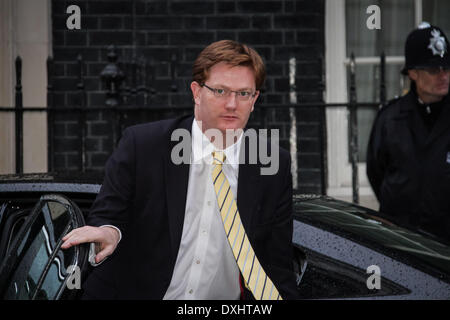 London, UK. 26th March 2014. Treasury Secretary Danny Alexander arrives at Downing Street in London before a meeting with Ukrainian UDAR party MP Vitali Klitschko. Credit:  Guy Corbishley/Alamy Live News
