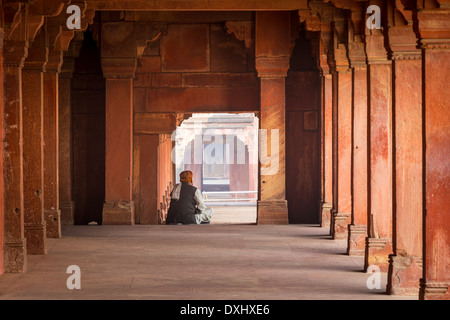 Fatehpur Sikri is a city and a municipal board in Agra district in the state of Uttar Pradesh, India - Stock Photo