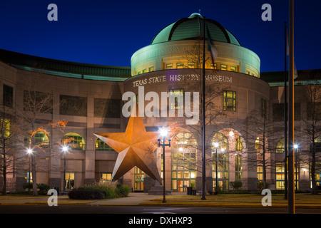 The Bullock Texas State History Museum, located in downtown Austin, Texas - Stock Photo