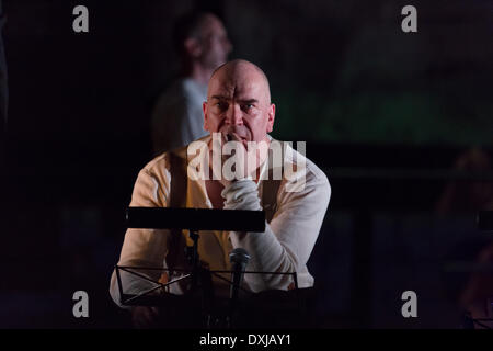 Hamburg. 22nd Mar, 2014. 'Front'. a drama based on the famous novel 'all quiet on the western front' and three other - Stock Photo