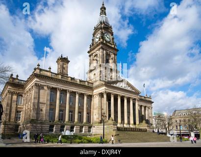 Bolton Town Hall. Lancashire. - Stock Photo