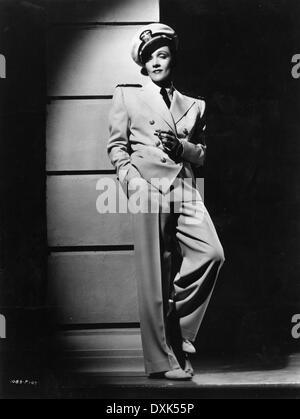 SEVEN SINNERS (US1940) MARLENE DIETRICH  WOMAN IN UNIFORM - Stock Photo