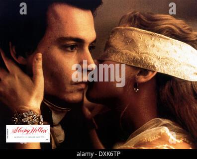 SLEEPY HOLLOW (US/GER 1999)   JOHNNY DEPP AND  CHRISTINA RIC - Stock Photo
