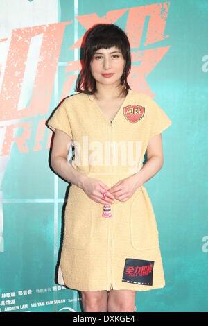 Hong Kong, China. 26th Mar, 2014. Actress Josie Ho at press conference of film Full Strike in Hong Kong, China on - Stock Photo