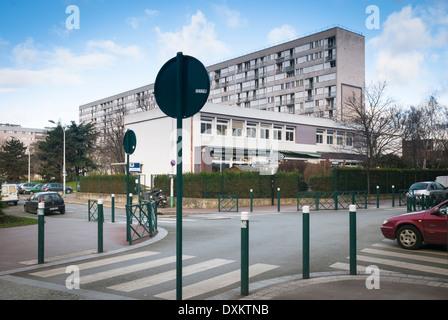 French architecture, in Gennevilliers, Parisian Northen Suburb. Ile-de-France region, France. - Stock Photo