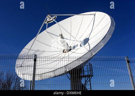 satellite dish Czech television, Kavci Hory, Pankrac, Prague, Czech Republic - Stock Photo
