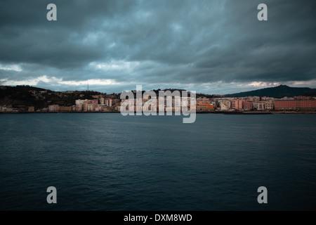 Naples (Italy) - The coast between Bagnoli and Pozzuoli seen from the sea