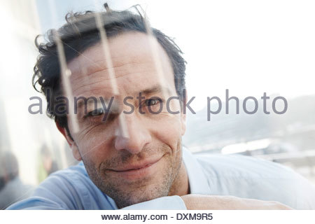 Portrait of smiling man - Stock Photo
