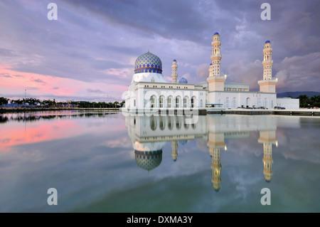 Kota Kinabalu City Floating Mosque, Sabah Borneo East Malaysia - Stock Photo
