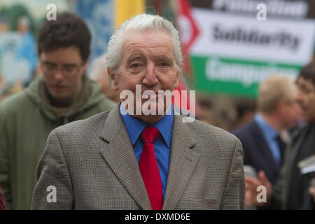 Westminster London, UK. 27th March 2014. British Labour  Politician Dennis Skinner as one of many guests and dignitaries - Stock Photo
