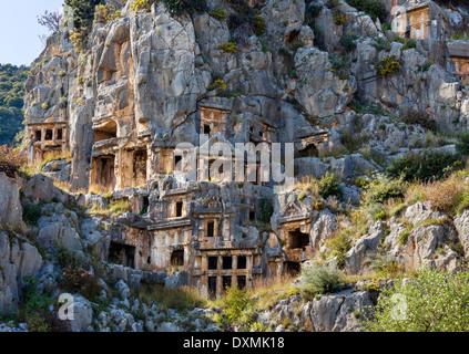 ancient Lycian Rock Tombs at Myra Myra Lycia Region ...