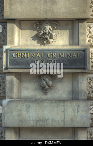 central criminal court The Old Bailey London - Stock Photo