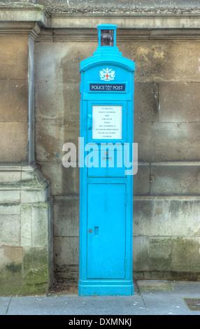 old police phone box,  London - Stock Photo