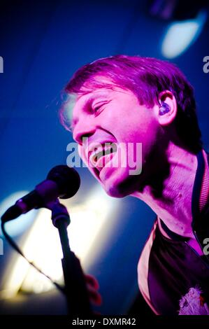 Sunderland, UK. 27th Mar, 2014. Franz Ferdinand's lead singer Alex Kapranos plays an intimate home coming gig in - Stock Photo