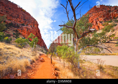 Simpson's Gap West MacDonnell Ranges Central Australia Northern Territory - Stock Photo
