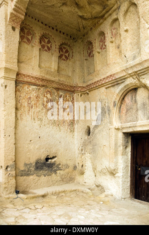 ASIA, Turkey, Cappadocia, Goreme, Goreme Open Air Museum, The Dark Church, (Karanlik Kilise , 12th Century) - Stock Photo