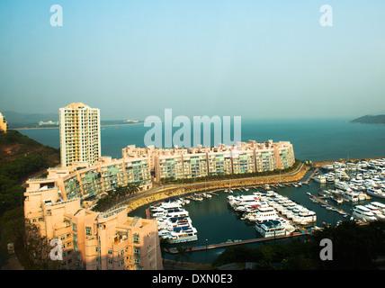 The Marina at Discovery bay, Hong Kong. - Stock Photo