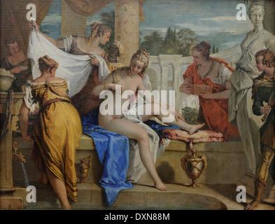 Sebastiano Ricci - Bathsheba in her bath - 1725 - XVIII th Century - Italian School - Gemäldegalerie - Berlin - Stock Photo