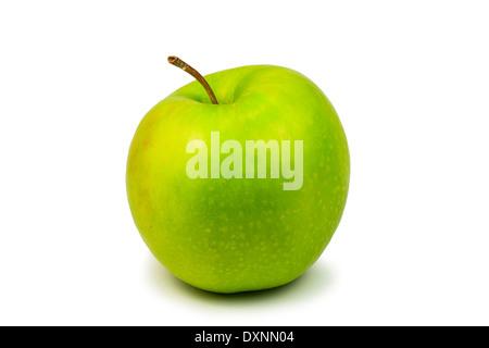 Fresh green apple isolated on white background - Stock Photo