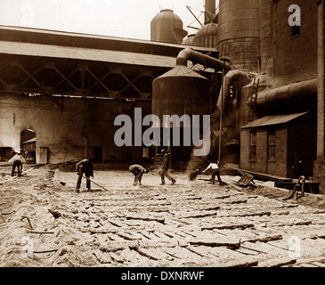 Blast furnace at steelworks Pittsburg Pennsylvania USA early 1900s - Stock Photo
