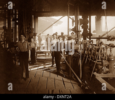 Steelworks Pittsburg Pennsylvania USA early 1900s - Stock Photo