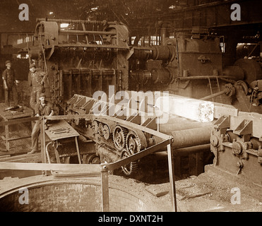 A blooming mill Pittsburg Pennsylvania USA early 1900s - Stock Photo