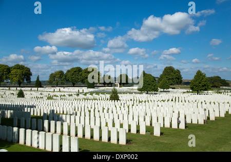 Souchez, France, British military cemetery Cabaret Rouge - Stock Photo