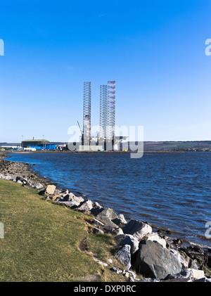dh  INVERGORDON ROSS CROMARTY Oil rig repair base facility depot