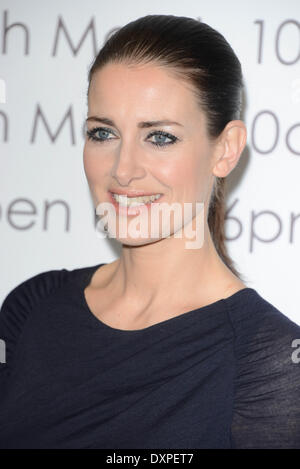 London, UK. 28th March 2014.  Sky Sport Presenter Kirsty Gallacher opening ceremony cutting the white ribbion at - Stock Photo