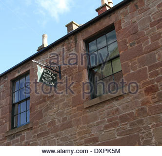exterior of Verdant Works Jute Mill Museum Dundee Scotland  March 2014 - Stock Photo