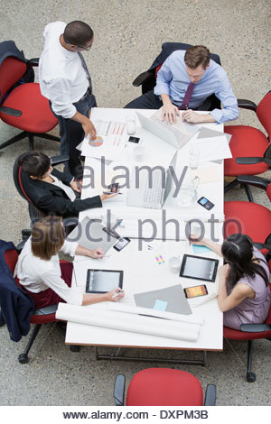 Business people meeting at conference table - Stock Photo
