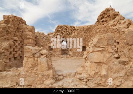 Byzantine church, Masada, Southern District, Israel. - Stock Photo