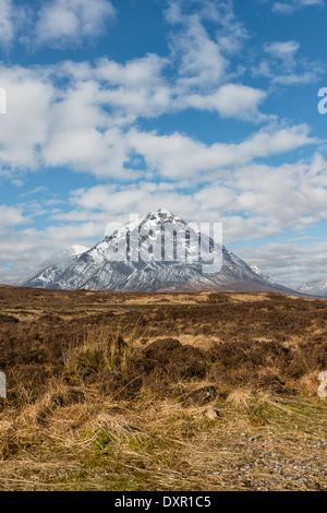 Stob Dearg the main peak of Buachaille Etive Mor - Stock Photo